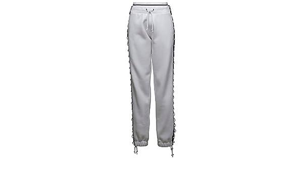 PUMA Women's Fenty Lacing Sweatpants WhiteBlack Pants