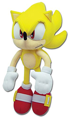 "Image of Great Eastern Sonic the Hedgehog Plush-12"" Super Sonic (GE-8958)"