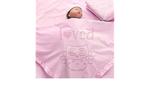 36x36inch AW BRIDAL Personalized Baby Blanket Gift for Girl Boys Newborn Swaddle Receiving Blankets Crib Bedding Sets