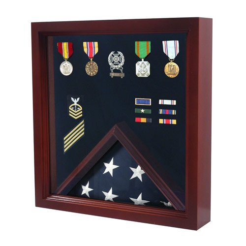 Military Flag and Medal Display Case - Shadow case by American Flag Frames