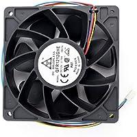 Moliies Reemplazo del Ventilador de enfriamiento de 6000RPM Conector de 4 Clavijas para Antminer Bitmain S7 S9 para proyectos Que requieren refrigeración o ventilación