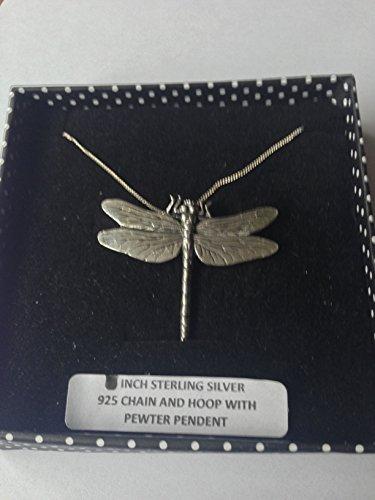 C3 Libelle Anhänger Echt 925 sterling Silber Halskette Kette prideindetails 45.72 cm, handgefertigt, mit Geschenk-box