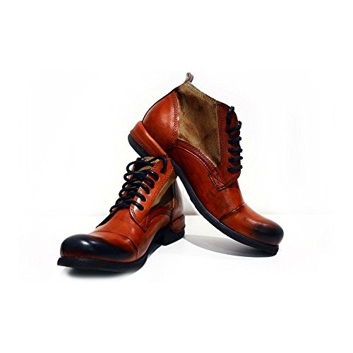 Modello Genua - 45 UE - colorido a mano zapatos de cuero de zapatos italianos botas de alto ata para arriba los hombres Casual Formal premium único de la vendimia