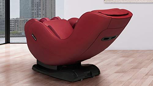 WELCON Markteinführung in rot - Massagesessel EASYRELAXX in rot mit Wärmefunktion, L-Shape, Automatikprogramme Knetmassage Klopfmassage