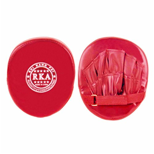 Rot Schlagpolster Boxkissen für Handschuh MMA Karate Muay Kick Kit Abbildung 3