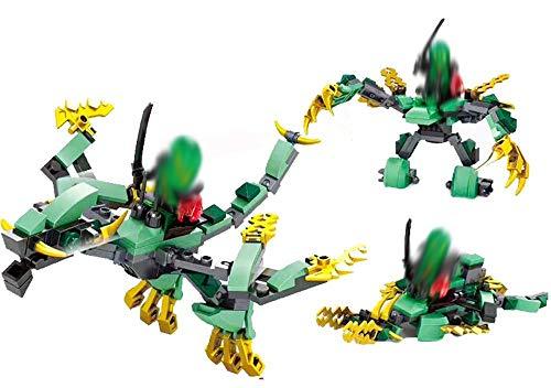 Modbrix 3in1 Bausteine Grüner Drachen Ninja Minifiguren Set, 120 teiliges Bausteine Set