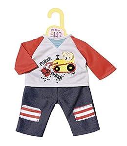 Zapf Creation 870518Dolly Moda Pantalones con Sudadera 43cm, Rojo, Gris, Azul