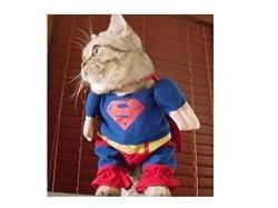 Demarkt Fashion Superman Dog Cat Puppy Fleece Costume Clothes Pet Apparel Superdog Dress Up Pet Supplies Cape (XL)