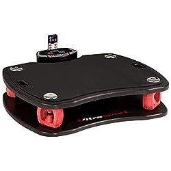 Ultrasport Vibrationsplatte 3D / Rüttelplatte für effektives Fitness Training, bis 100 kg belastbar, Vibro Shaper mit Fernbedienung und Trainingsbändern