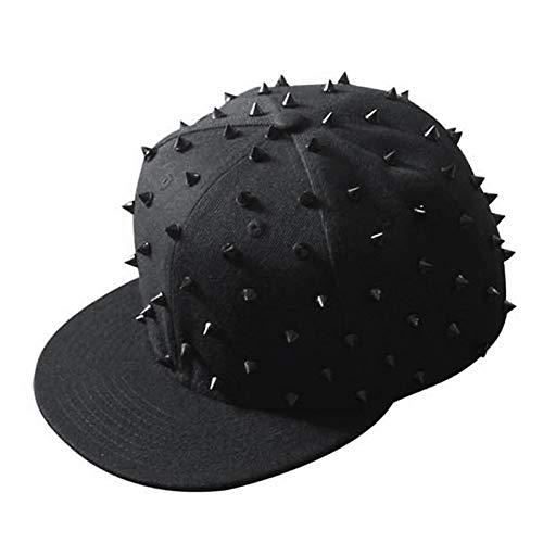 Yosrab Erwachsener Hip Hop Punk Rock voller Spike Studs Nieten Caps Jugend Mann Skateboard Cap Männer Flat Peak Baseball Hüte