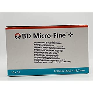 BD Microfine 0.5ml Insulin Syringe .33mm (29g) x 12.7mm (Pack of 100) - BD324824