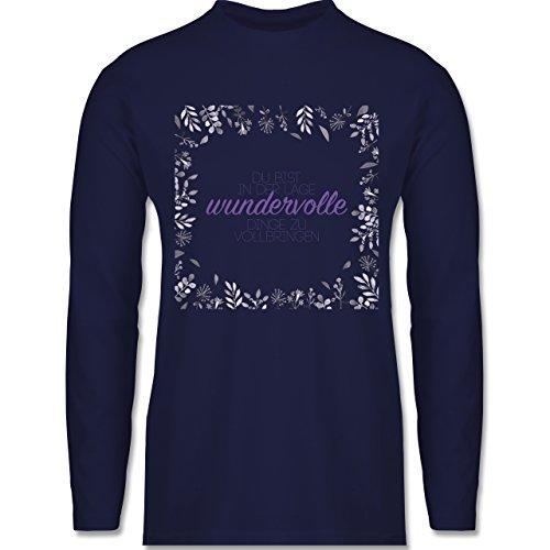Statement Shirts - Inspirierende Zitate - Du kannst wundervolle Dinge - Longsleeve / langärmeliges T-Shirt für Herren Navy Blau