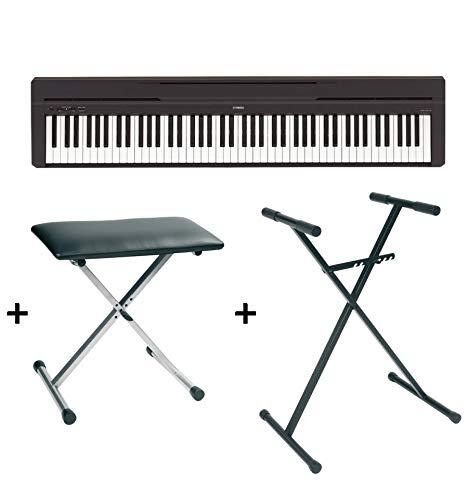 Pack Piano numérique Yamaha P45 noir + Support + banquette