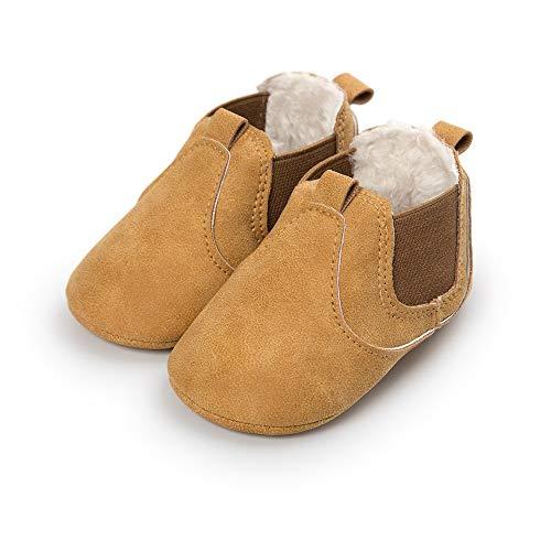 Morbuy Baby Wanderer Schuhe 0-18 Monate Neugeborene Babyschuhe Leopardenprint Mädchen Kleinkind Weiche Alleinige Anti-Rutsch Krabbelschuhe (12cm / 6-12 Monate, Gelb)