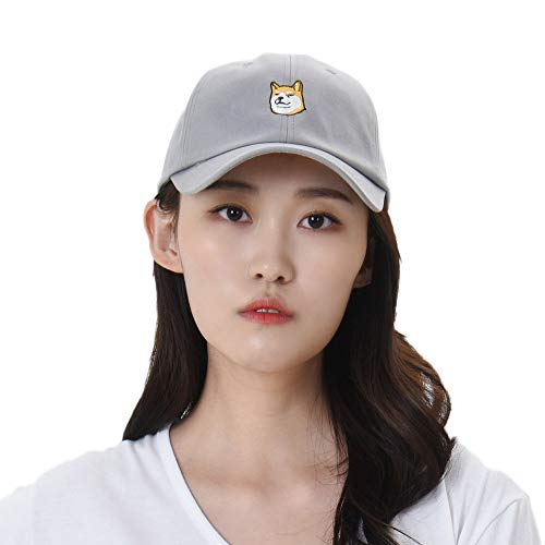 WITHMOONS Casquette de Baseball Baseball Cap Shiba Inu Dog Embroidery Cotton Hat KR1304 (Lightgrey)