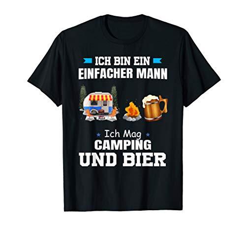 ich bin ein einfacher mann ich mag camping und bier shirt