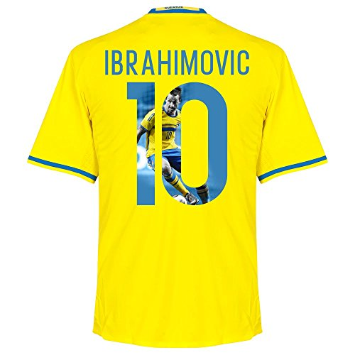 Schweden Home Trikot 2016 2017 + Ibrahimovic 10 (Gallery Style) - L