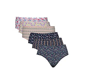 Jockey Women's Cotton Printed Hipster Panty (1406, Assorted, Small) - Set of 6