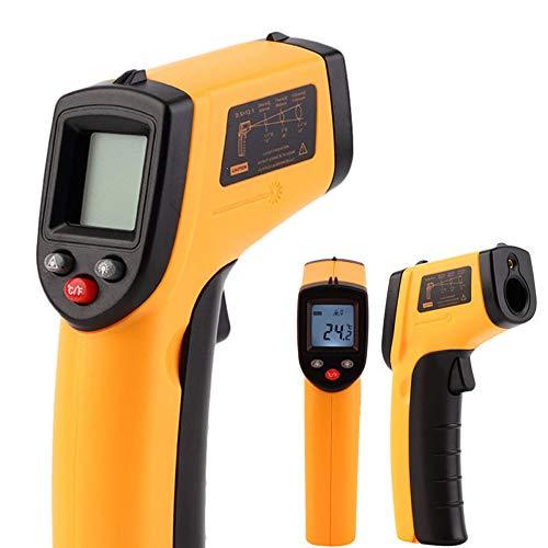 JackRuler Portable LCD Infrared Küche Digital Thermometer,Berührungslose Grill Bratenthermometer Fleischthermometer, Digitale Temperaturpistole,Haushaltsthermometer Temperatur, Für Küche