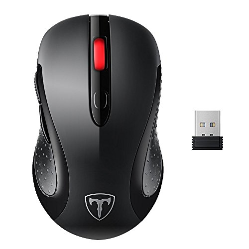 VicTsing 2.4G Wireless Optical Mouse with Nano USB Receiver, 6 Buttons, 5 Adjustable DPI Level (800/1200/1600/2000/2400 ) For PC Laptop iMac Macbook Microsoft Pro, Office Home Test