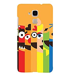 Cartoon Faces 3D Hard Polycarbonate Designer Back Case Cover for Huawei Honor 5c :: Huawei Honor 7 Lite :: Huawei Honor 5c GT3