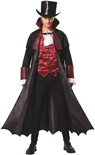 Mens Classic Dracula Vampire Blood Sucker Halloween Horror Film Movie Fancy Dress Costume Outfit (Horror Movie Fancy Dress Kostüme)