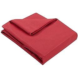 Zebra Textil 21468, Copridivano Beret con ottomana a Destra, Rosso