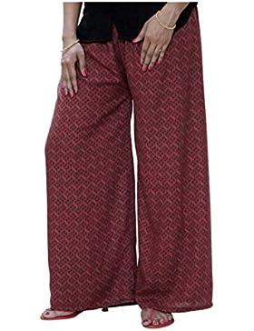 Indian Handicrfats Export DiscountZila Flared Women's Brown Trousers
