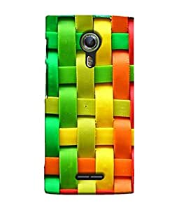 PrintVisa Designer Back Case Cover for Alcatel Flash 2 :: Alcatel Onetouch Flash 2 (Pink Red Yellow Green Blue)