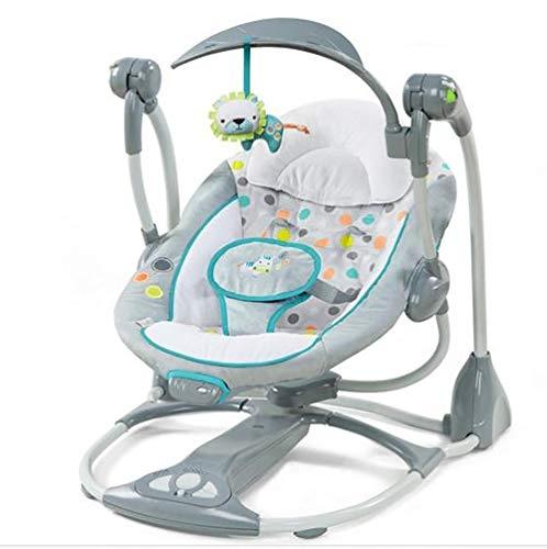 ZZKJCCF Neugeborene Schlafen Schaukel Wiege, Kinder Schaukel Stuhl TüRsteher, Infant TüRsteher Und Wippen, Baby Schaukelstuhl Safe Automatische Wiege,B