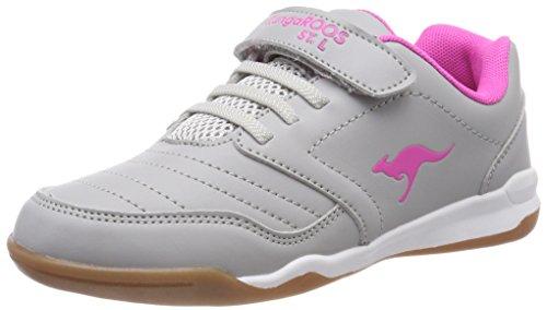KangaROOS Unisex-Kinder Vanderyard Sneaker, Grau (Vapor Grey/Daisy Pink), 39 EU (Daisy Grey)