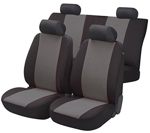 Preisvergleich Produktbild Sitzbezug Schonbezug Autositzbezug, Komplett Set, Subaru Vivio, Schwarz, Grau