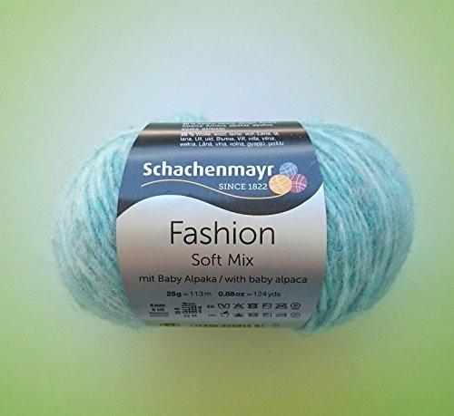 Schachenmayr 25 Gramm FASHION Soft Mix mit Baby Alpaka Fb. 0065 Pool aus 45% Polyamid, 30% Alpaka, 25% Wolle