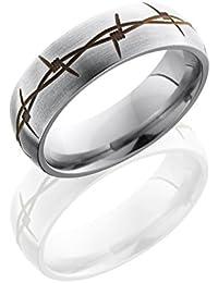 Titanium, Satin Finish BarBandEngraved Wedding Band (sz H to Z1)