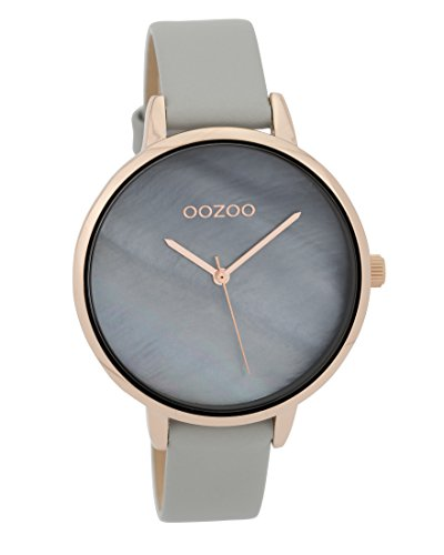 Fashion Oozoo Damenuhr mit Perlmutt Ziffernblatt und Lederband 40 MM