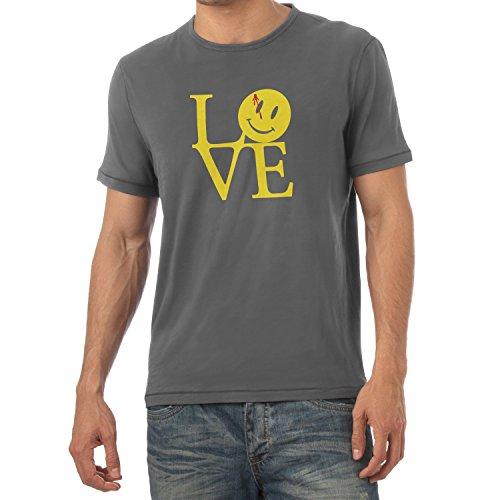 TEXLAB - Watchmen Love - Herren T-Shirt, Größe M, grau (Amor Kostüm Für Herren)
