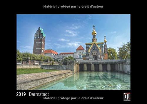 Darmstadt 2019 - Édition noire - Calendrier mural Timokrates, calendrier photo, calendrier photo - DIN A3 (42 x 30 cm)