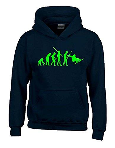 SNOWBOARD Evolution Kinder Sweatshirt mit Kapuze HOODIE schwarz-green, Gr.164cm -