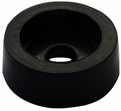 Aerzetix: 10x runde Füße PVC H: 5 mm Ø 12 mm für Möbel. Zum Anschrauben. schwarz - Gummifüße Schrauben