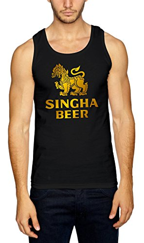 Certified Freak Singha Beer Tank Top Black-XXL