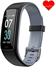 Dwfit Fitnessarmband met hartslagmeter, waterdichte bloeddrukmeter, fitnesstracker, activiteitstracker, hartslagmeter, stapp