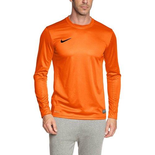 NIKE, Maglia Uomo a maniche lunghe Park V, Arancione (Safety Orange/Black), L - Arancione Nike Jersey