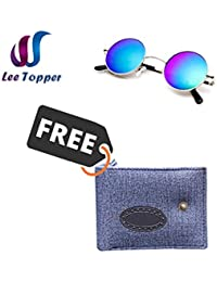 Combo Of Lee Topper Stylish Casual Wallet With Blue Glass Color Stylish Trendy Aviator Sunglass
