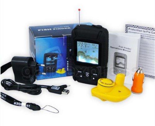 Gowe Akku wasserfestem Wireless Fishfinder Fisch-Finder 0,6-40m (2-131ft) Sensor 125KHz Sonar Frequenz Frequenz-sonar-fishfinder