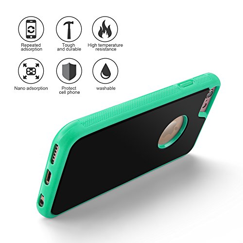 OKCS Case Anti Gravity pour Apple iPhone 6 Plus, 6s Plus Hard Cover - Blanc vert