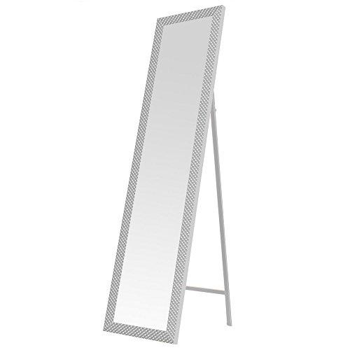 Espejo de pie Moderno Blanco de plástico para Dormitorio DE 37 x 157 cm Fantasy - LOLAhome