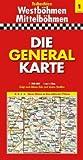 Die Generalkarte Tschechien 1, Westböhmen/Mittelböhmen 1:200 000 - GENERALKARTEN Mair