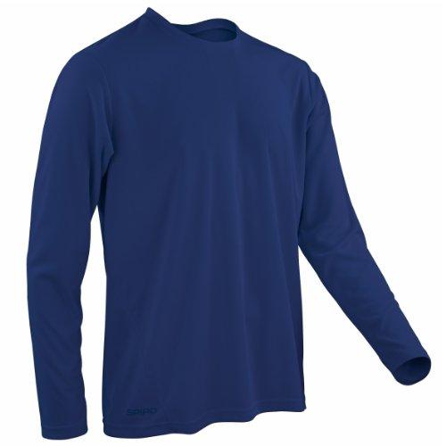 Spiro ActivewearHerren Langarmshirt Blau - Navy