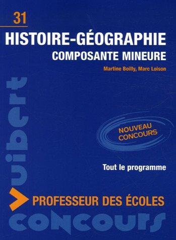 Histoire-Gographie composante mineure : Concours professeur des coles