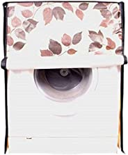 Kuber PVC Front Load Fully Automatic Washing Machine Cover, Cream, Standard, WMA23